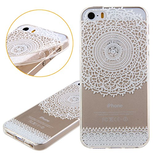 iPhone 6S Hülle,iPhone 6 Hülle [Scratch-Resistant],iPhone 6S 6 Hülle 4.7, ISAKEN iPhone 6S iPhone 6 4.7 Ultra Slim Perfect Fit Christmas Weihnachtstag Geschenk Muster Malerei TPU Clear Transparent Pro Blumen C