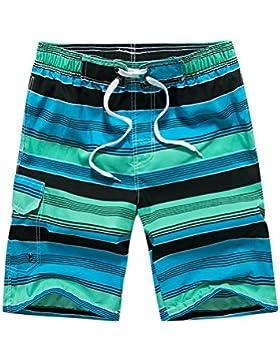 WDDGPZ Pantalones Cortos De Playa/Los Hombres De Verano Playa Longitud Rodilla Dhorts Wuick Fry Voconut Árbol...