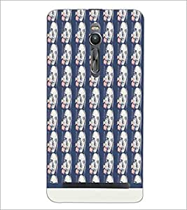 PrintDhaba Face pattern D-1533 Back Case Cover for ASUS ZENFONE 2 (Multi-Coloured)