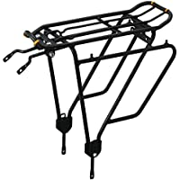 Ibera PakRak Bicycle Touring Carrier Plus+ Carrier Rack Frame-Mounted for Heavier Top & Side Loads Bike Cargo Racks