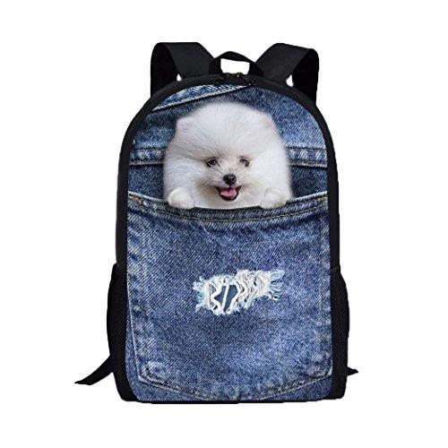 Imagen de 3d animal imprimir perro perro bolsas de hombro,  de la universidad pro morwind c