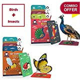 #3: Gift Pack of 2 (Birds + Insects) | Age 3 - 10 | AR/VR powered Flashcards for Preschoolers| Better than regular 3D & 4D Cards | Free iOS and Android App