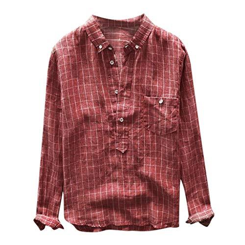 Carol -1 Trachten Hemd Karriert Herren Freizeithemd Karohemd holzfäller Hemden männer Checked Shirt