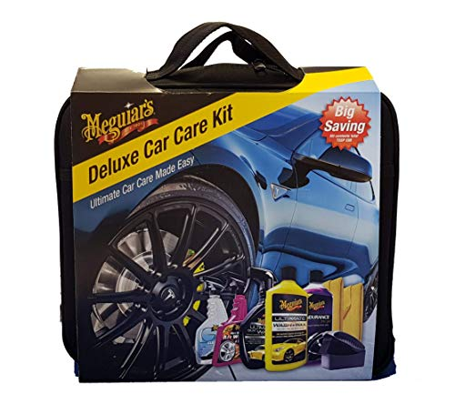 Meguiars DELKITEU Deluxe Car Care Kit (G17716/G17516/G7516/G9524/G8216/X3090/2xTuch) Kit Car Care