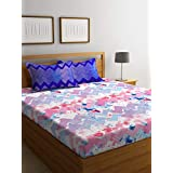 Bombay Dyeing Cynthia Polycotton Double Bedsheet with 2 Pillow Covers - Red