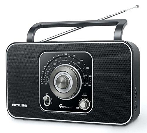 Muse M-068 R tragbares 4-Band Radio (UKW/MW/LW/KW-Tuner) schwarz