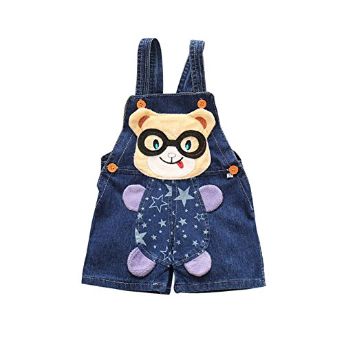 Baby Dungarees Newborn Suspender Denim Short Pants Cartoon Cute Summer Jumpsuit One Piece Bodysuit for 0-3 Years Old Boy Girl