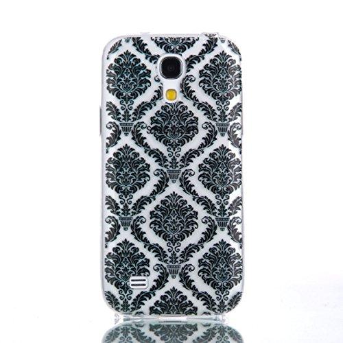 Ekakashop Coque pour Samsung Galaxy S4 Mini I9190, Ultra Slim-Fit Flexible Souple Housse Etui Back Case Cas en Silicone pour Galaxy S4 Mini, Soft Cristal Clair TPU Gel imprimée Couverture Bumper de Pr Totem Fleur
