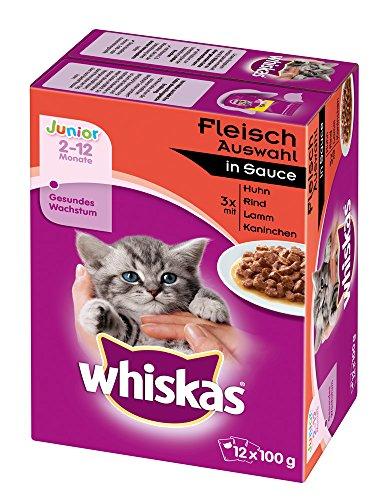 whiskas-junior-katzenfutter-fleischauswahl-in-sauce-48-beutel-4-x-12-x-100-g