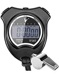 Paxcoo Digital Cronómetro Temporizador Cronógrafo Deportivo Reloj Deportivo con Reloj Alarma Calendario y Pantalla LCD Grande