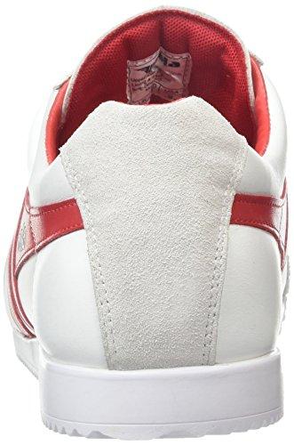 Gola Herren Harrier Leather Low-Top White (White/Red)