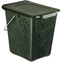 Rotho Kompost Eimer GREENLINE, Bio Mülleimer für die Küche mit geruchsdichtem Deckel aus Bio-Kunststoff, Recycling Eimer mit 7 Liter Inhalt, ca. 26 x 20,8 x 25,2 cm