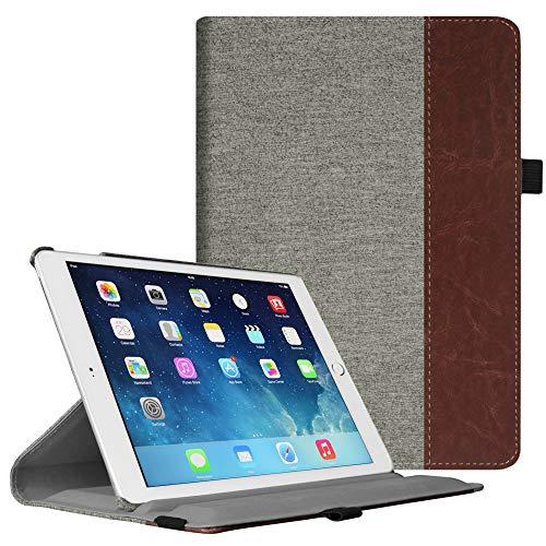 Fintie iPad Air 2 Hülle - 360 Grad Rotierend Stand Cover Case Schutzhülle Tasche Etui mit Auto Schlaf/Wach Funktion für Apple iPad Air 2 (2014), Denim Grau - 2 128 Gb Ipad Cellular Mini