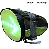 Ohwens LED Cycling Saddle Bag/Bicycle Underseat Bag Reflective Turn Signal Direction Indicator Light - Lightweight, Waterproof, Safe for Bicycle at Night