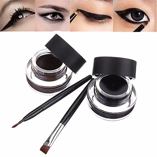 Lucky Fine resistente agua Eyeliner Gel maquillaje
