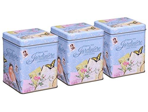 Vogel Vintage Tee (Teedosen Set / Gewürzdosen Set, 3 Stück