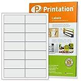 Adress Etiketten 1400 Stk. 95 x 40 mm weiß blanko selbstklebend - 100 DIN A4 Bogen à 2x7 95x40 Adressetiketten / Labels
