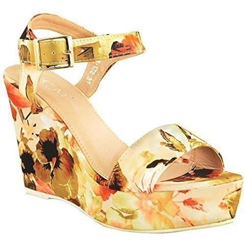 Sandali da donna Scarpe tacco a livello della caviglia cinghie