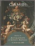 Scarica Libro Cambi casa d aste in Genova Asta di antiquariato e dipinti antichi 2008 (PDF,EPUB,MOBI) Online Italiano Gratis
