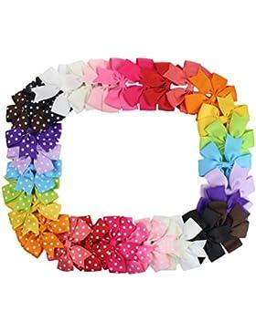 30pcs gefleckte Schleife Fliege Accessoires Haarspange Haarklammer Haarclips für Babys, Kinder,Mädchen oder junge...