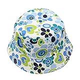 Babybekleidung Hüte & Mützen, SannysisKleinkind Baby Kinder Jungen Mädchen Blumenmuster Bucket Hats Sun Helm Cap (Blau)