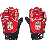Lmeno Football Goalkeeper Gloves Kids Youth Adults Finger Save Goalie Gloves Anti-Slip Secure Reduce the Chance of Injury