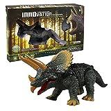 Covermason Gehende Fernbedienung Dinosaurier Triceratops Spielzeug Modell Licht Sound Action Figure