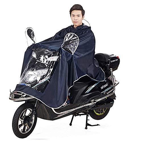 Cape de Pluie Manteaux Imperméable à Grande Capuche Moto/Vélo Poncho/Veste de Pluie Raincoat Cape Bonne Qualité Rainwear Outdoor Waterproof Unisexe pour Homme Femme-Bleu Fondé
