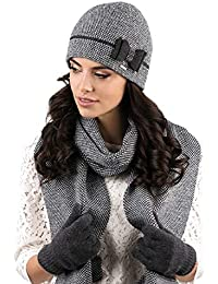 Kamea - Ensemble bonnet, écharpe et gants - Femme f1125503ae3