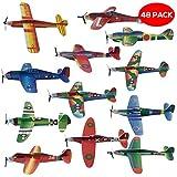 THE TWIDDLERS 48 Aviones planeadores de Papel - Niños Aeroplanos...