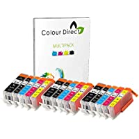3 Sets ( 15 Ink ) Colour Direct Compatible Cartridges PGI 570XL CLI 571 XL- Replacement For Canon Pixma MG5750 MG5751 MG5752 MG5753 MG6850 MG6851 MG6852 MG6853 MG7750 MG7751 MG7752 MG7753 TS5050 TS5051 TS5053 TS5055 TS6050 TS6051 TS6052 TS8050 TS8051 TS8052 TS8053 TS9050 TS9055 Printers