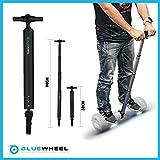 Bluewheel Haltestange für Hoverboards – 38 bis 90cm Scooter Handle aus Aluminium – Balance Bar optimal und sicher für Anfänger, Roller Handgriff für Elektro-Scooter, Hoverboard Halter Haltegriff Stab (schwarz)