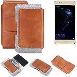 K-S-Trade Gürteltasche für Huawei P10 lite Dual-SIM Gürtel Tasche Schutz Hülle Hüfttasche Belt Case Schutzhülle Handy Hülle Smartphone Sleeve aus Filz + Kunstleder (1 St.)