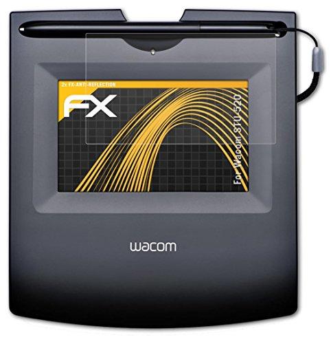 Wacom STU-520 Displayschutzfolie - 2 x atFoliX FX-Antireflex blendfreie Folie Schutzfolie