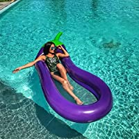 ytbaccl Inflatable Floating Pool Rafts Floating Lounge Chairs Summer Beach Swimming Pool Inflatable raft Summer Beach Swimming Pool Party Lounge Raft Decorations Eggplant mesh floating row