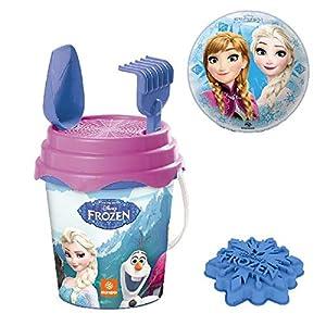 Mundo 28237-Juego de Playa Frozen Bucket Set