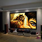 "Safekom Portable 100"" Inch 16:9 Fabric Matte Projector Projection Screen Home Cinema Theater Manual Pull Down Wide HD 3D Movies White Screens Durable Matt - 1 Year Warranty UK Free & Fast Same Day Dispatch UK Seller"