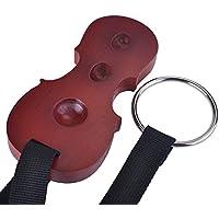 Punk Massivholz Cello Endpin Rest Antirutsch Stopper Anchor Displayschutzfolie in Cello Form 3Löcher Halter Red wood