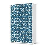 Möbel-Sticker Folie für IKEA Pax Schrank 236 cm Höhe - 3 Türen | Sticker Dekorfolien Möbel-Tattoo | Einrichtung umgestalten Dekor | Design Motiv Große Welle