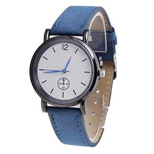 Armbanduhren OHQ Vogue Uhren Casaul Frauen Fashion Peeling PU Lederband Analog Quarz (Blau)