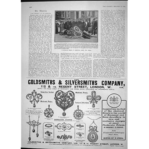 1904 Orfebres Londres De Bush De Los Pastores Del Choque Del Coche De Motor