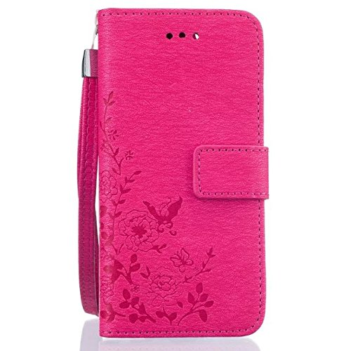 iPhone Case Cover Gemalte bunte Muster Geldbörsenart Fall magnetischen Design Flip Folio PU-Leder-Abdeckung Standup-Abdeckungsfall für iPhone 6 6S ( Color : Rose , Size : IPhone 6 6S ) Rose