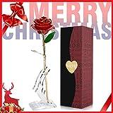 Rose, Magicpeony 24k Gold Rose Handgefertigt Konservierte Rose - mit Geschenkbox für Frau Freundin/ Muttertag/ Geburtstag/ Hochzeitstag/ Jahrestag Künstliche Rose