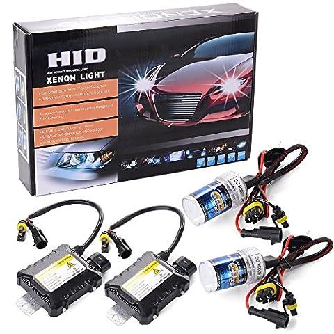 XCSOURCE® 55W HID Lampe à Xéon Headlight Lampe Kit de Conversion H7 6000K Ampoule de (Kit Xenon Bi)