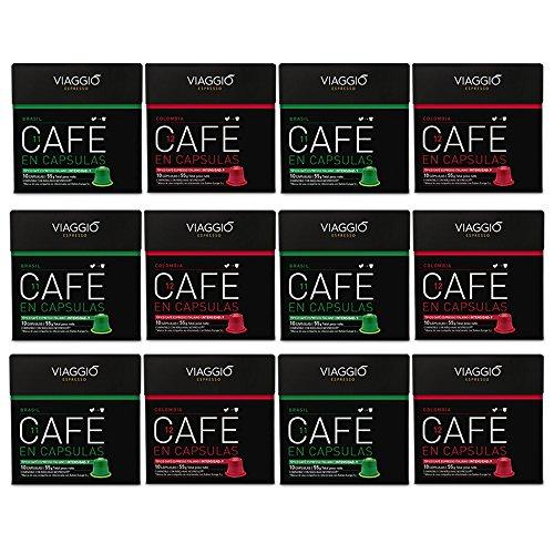 VIAGGIO ESPRESSO - 120 Cápsulas de Café Compatibles con Máquinas Nespresso - SELECCIÓN ORÍGENES