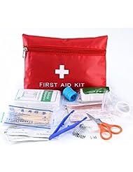 Haosen Botiquin de Primeros Auxilios Basico de 12 Clases / Portátil y Ligero / Idea para Senderismo, Camping, Deportes, Viajes, Hogar y Oficina