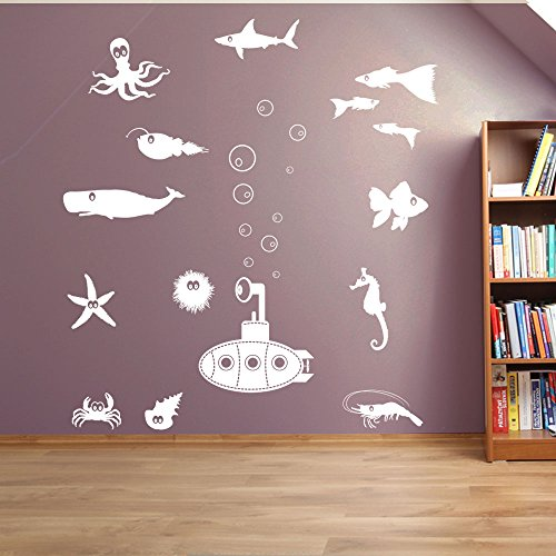 sea-world-kids-nursery-rhymes-decoration-murale-fenetre-stickers-decoration-murale-sticker-mural-sti