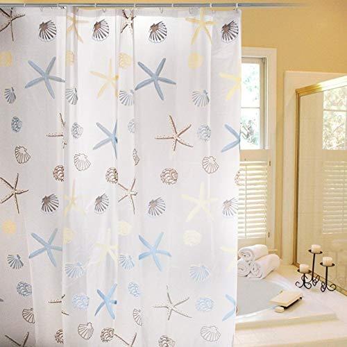 (Cozyswan wasserdicht Badezimmer Vorhang PEVA Duschvorhang mit Haken 72zoll Anti-Schimmel Vorhang)