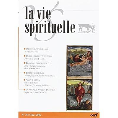 La Vie Spirituelle n° 763
