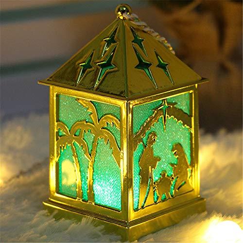 Weihnachten Small House Lights Ornamente, Weihnachtsschmuck Licht, Home Decor Hängende Pendelleuchte, Aushöhlen Laterne Handwerk Kleiner Kronleuchter.
